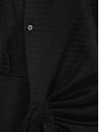 The Attico Attico Fringed Shirt Dress - BLACK