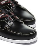 Prada Logo Panel Boat Shoes - Nero