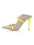 Malone Souliers Double Strap Pumps - Ice Neon Yellow