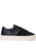 D.A.T.E. Vertigo Stardust Dark Blue Laminated Nabuck Sneaker - Blue