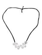 Maria Calderara Glass Detailed Necklace - Ice Crystal