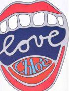 Chloé Chloe' Tshirt Lips - Bianco