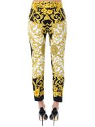 Versace Iconic Printed Tailored Trousers Black E Gold - Black/gold