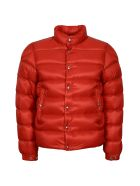 Moncler Piriac Padded Jacket With Zip And Snaps - red