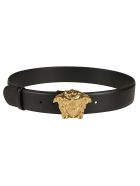 Versace Plaque Logo Belt - Black
