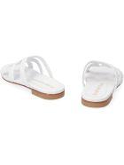 Stuart Weitzman Sarita Leather Sandals - White