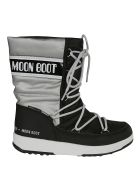 Moon Boot G. Quilted Moon Boots - Black/Silver