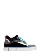 Marcelo Burlon Vulcanized Techno-fabric And Leather Sneakers - Multicolor