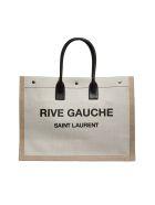 Saint Laurent Rive Gauche Tote - White