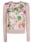 Dolce & Gabbana Floral Ribbed Sweater - pink