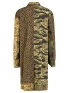 R13 Shredded Coat - Camo Green