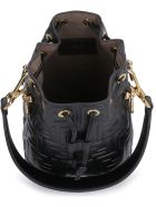 Fendi Mon Tresor Mini Leather Bucket-bag - black