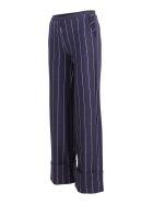 La Petit Robe Di Chiara Boni La Petit Robe By Chiara Boni 'fred Print' Polyamide Trousers - Blue