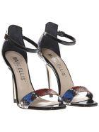 Marc Ellis Multicolor Patent Leather Python Pattern Sandals - Multicolor