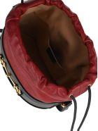 Gucci Gucci 1955 Horsebit Bucket Bag - BLUE + RED