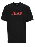 MSGM Tshirt Fear - BLACK
