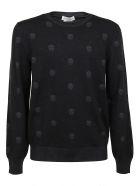 Alexander McQueen Crew Neck Pullover - `black Charcoal