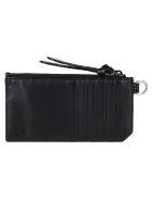 Jimmy Choo Black Leather Lise Wallet - Black