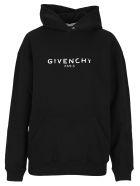 Givenchy Logo Print Hoodie - BLACK