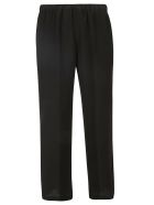Aspesi Wide Cropped Trousers - Black