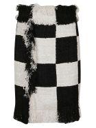 MSGM Skirt - White Black