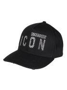 Dsquared2 Black Cotton Cap - Black