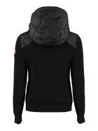 Canada Goose Hybridge Knitted Full Zip Hoodie - black