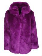 RTA Faux-fur Coat - Purple