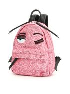Chiara Ferragni Small Glitter Flirting Backpack - PINK (Fuchsia)
