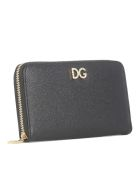 Dolce & Gabbana Logo Zip Around Wallet - Black