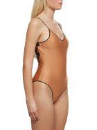 Oseree Lace Insert Swimsuit - Bronzo