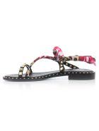 Ash Pattaya Sandals - Black Foulard Flower