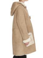 Golden Goose Sava Mutton Coat - Beige shearling
