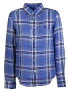 Ralph Lauren Checked Shirt - Blue/white