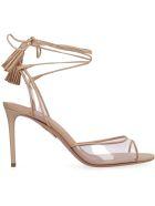 Aquazzura Nudist Leather Sandals - Beige