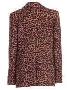 Sara Battaglia Jacket Fitted Double Breasted - Brown