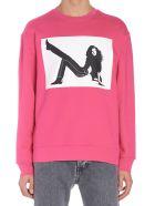 Calvin Klein 'icon Print' Hoodie - Fuchsia