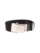 Prada Logo Plaque Belt - BLACK
