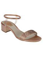 René Caovilla Elastica Sandals - Rose Gold