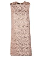Rochas A-line Jacquard Dress - Medium Beige