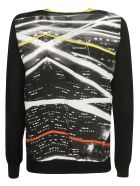 Ultrachic Print Detail Cardigan - Black/Light Night