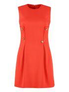 Versace Jewel Buttons Sheath Dress - red