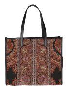 Etro Multicolor Wool Blend Tote Bag - Multicolor