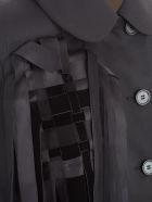 Simone Rocha Blazer Cloth W/fringes - Black