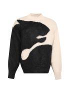 Kenzo Tiger Shadow Intarsia Sweater - Beige