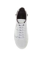 Valentino Garavani Backnet White & Brown Vlogo Leather Sneaker - White/brown