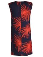 Victoria Beckham Printed Shift Dress - Midnight spice