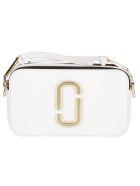 Marc Jacobs White Leather Snapshot Crossbody Bag - White