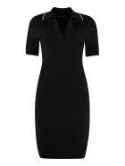 Fendi Knitted Sheath Dress - black