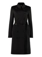 Burberry Cashmere Double-breasted Coat - black